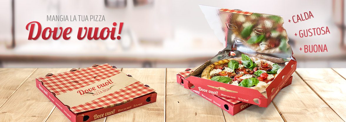 Dove vuoi! PET Pizza Box