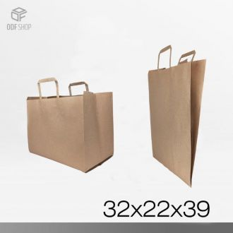 SHOPPER IN CARTA AVANA 32X22X39
